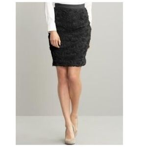 BANANA REPUBLIC Tulle Ruffle Rose Pencil Skirt B3